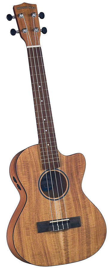 View larger image of Diamond Head Flamed Acacia Electric-Acoustic Cutaway Tenor Ukulele