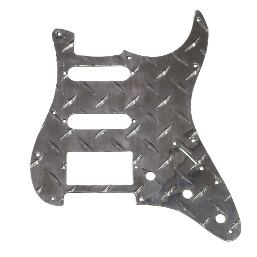 View larger image of Diamond Plate Pickguard for Stratocaster - Chrome