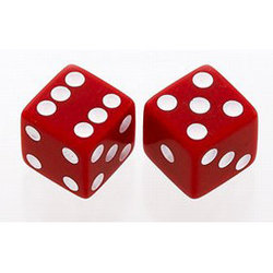Dice Knobs - Red