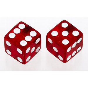 View larger image of Dice Knobs - Transparent Red