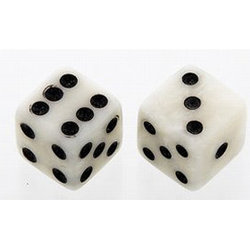 Dice Knobs - White Pearl