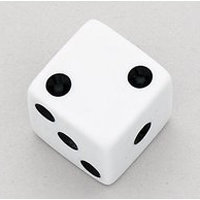 View larger image of Dice Knobs - White