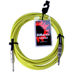 Dimarzio 10ft Overbraid Neon Green Guitar/Instrument Cable - EP-1710NG