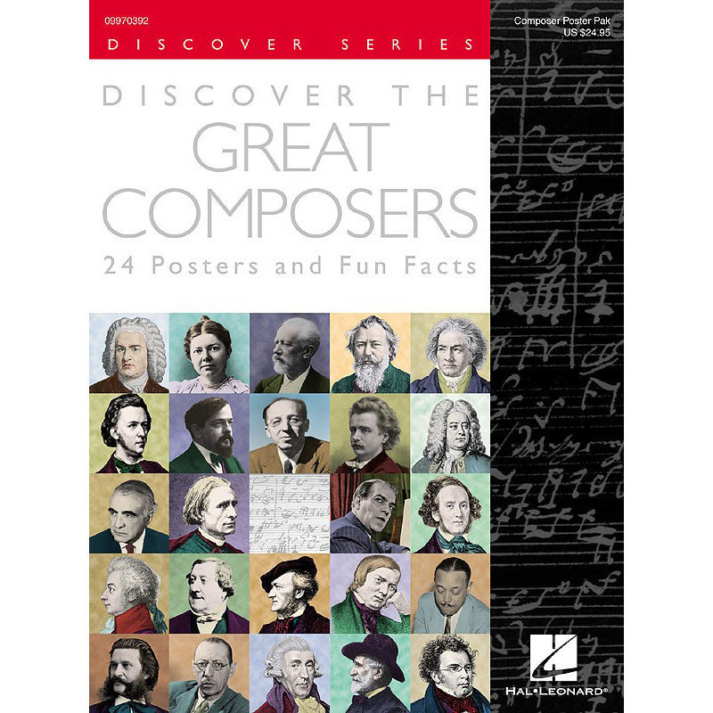 View larger image of Discover the Great Composers - Set of 24 Posters