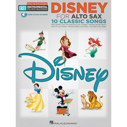 Disney Easy Instrumental Play Along - Alto Sax w/Online Audio