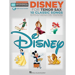 Disney Easy Instrumental Play Along - Tenor Sax w/Online Audio