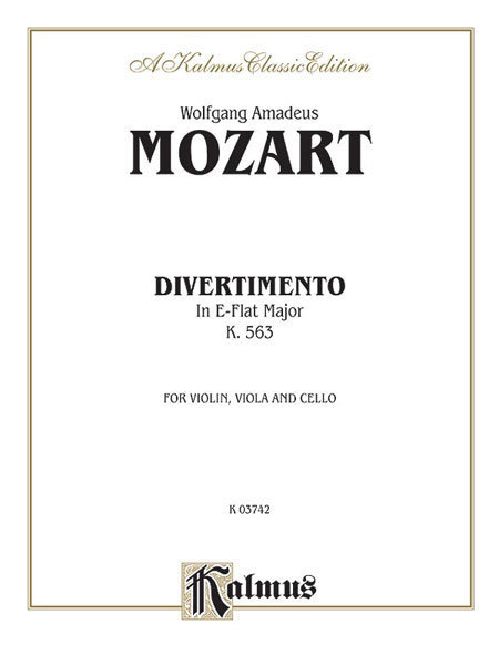 View larger image of Divertimento in E-Flat Major K563 (String Trio)