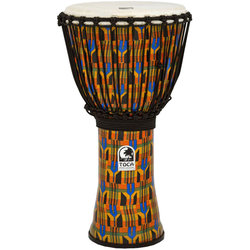 """Toca Freestyle Rope Tuned Djembe - 12"""", Kente Cloth"""