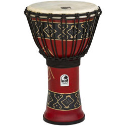 """Toca Freestyle Rope-Tuned Djembe - 9"""", Bali Red"""