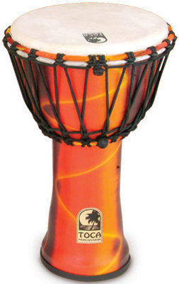 """View larger image of Toca SFDJ-9F Synergy Freestyle Djembe - 9"""", Fiesta Red"""