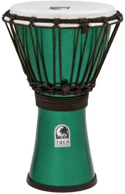 """View larger image of Toca Freestyle Colorsound Djembe - 7"""", Metallic Green"""