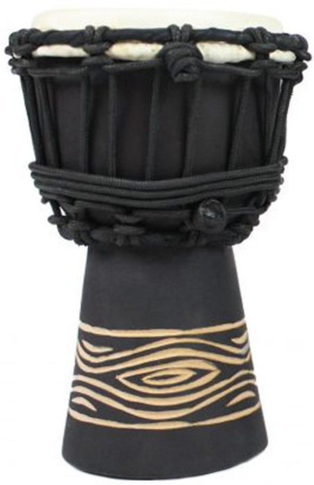 """View larger image of Toca Freestyle Rope Tuned Mini Djembe - 4"""", Black Onyx"""