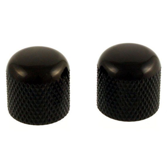 View larger image of Dome Knobs - Black, Push-On