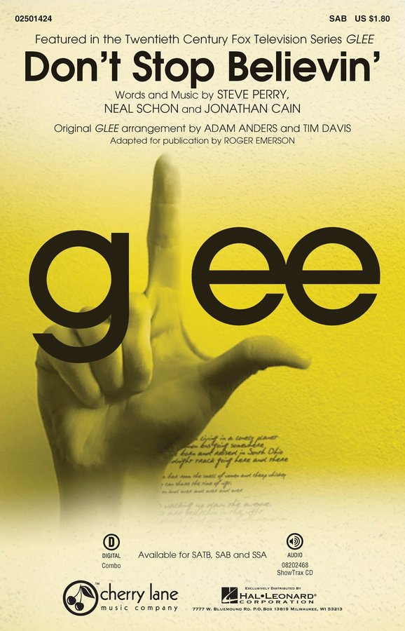 View larger image of Dont Stop Believin (from TV Series Glee) - SAB Parts