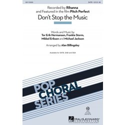 Don't Stop the Music (Rihanna), SATB Parts