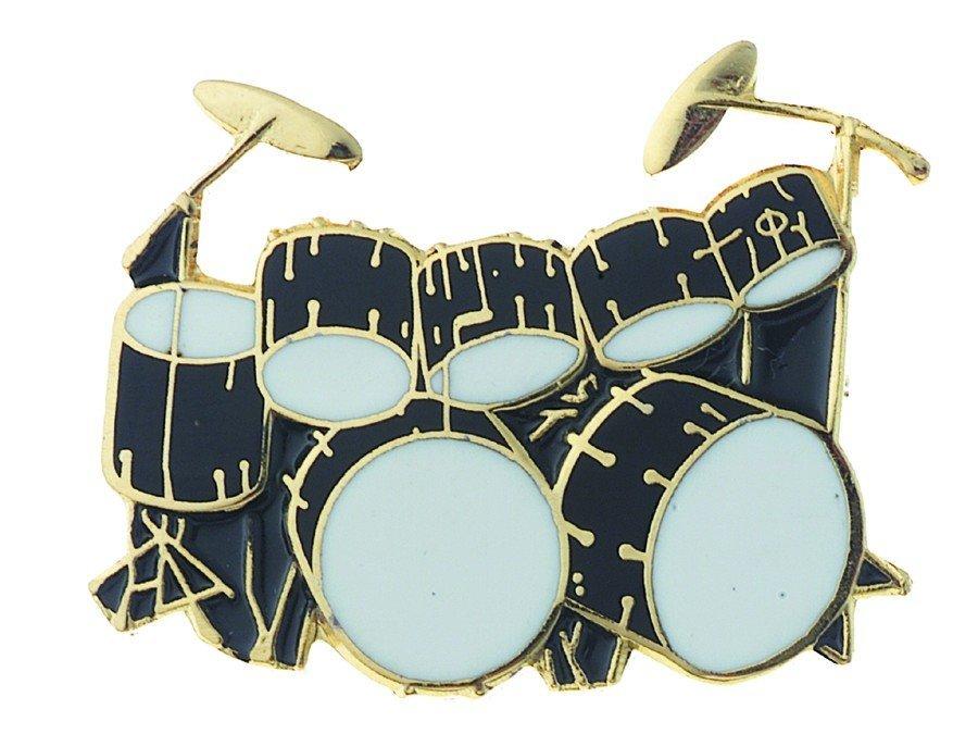 View larger image of Double Bass Drum Pin - Black