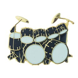 Double Bass Drum Pin - Black