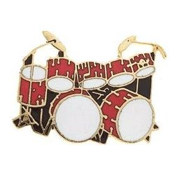 Double Bass Drum Pin - Red