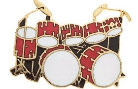 View larger image of Double Bass Drum Pin - Red