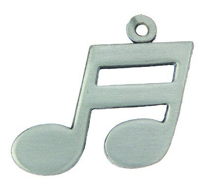 View larger image of Double Note Music Keychain - Pewter