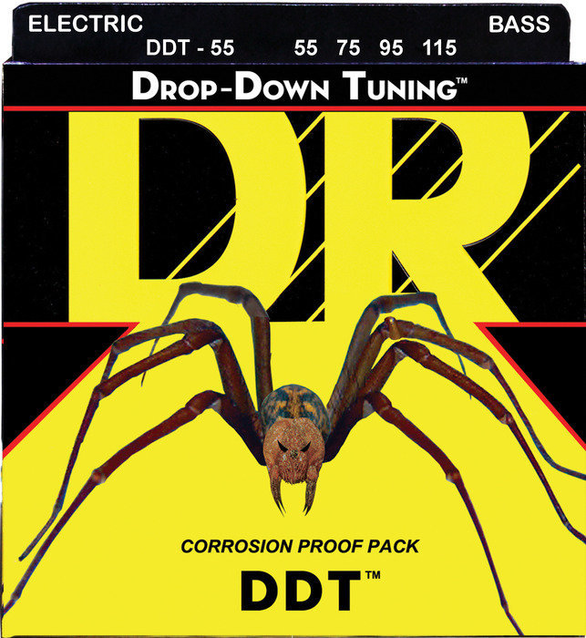 View larger image of DR Strings DDT-55 Drop Down Tuning Bass Strings - Heavier, 55-115
