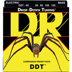 DR Strings DDT-65 Drop Down Tuning Bass Strings - Extra Heavy, 65-125