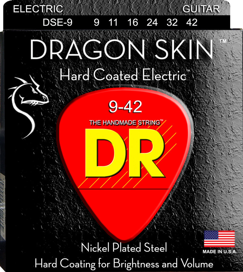 View larger image of DR Strings DSE-9 DragonSkin Coated Electric Strings - Lite, 9-42