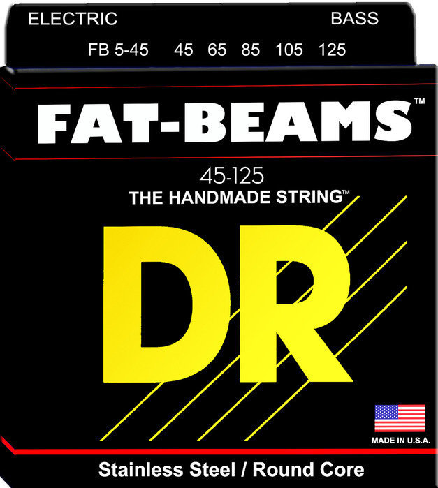 View larger image of DR Strings FB5-45 FAT BEAMS 5-String Bass Strings - 45-125