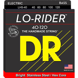 DR Strings LH5-40 Lo-Rider Bass Strings - Lite, 5 String, 40-120