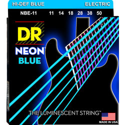 DR Strings NBE-11 NEON Blue Electric Strings - Heavy, 11-50