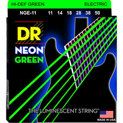 DR Strings NGE-11 Neon Green Electric Strings - Heavy