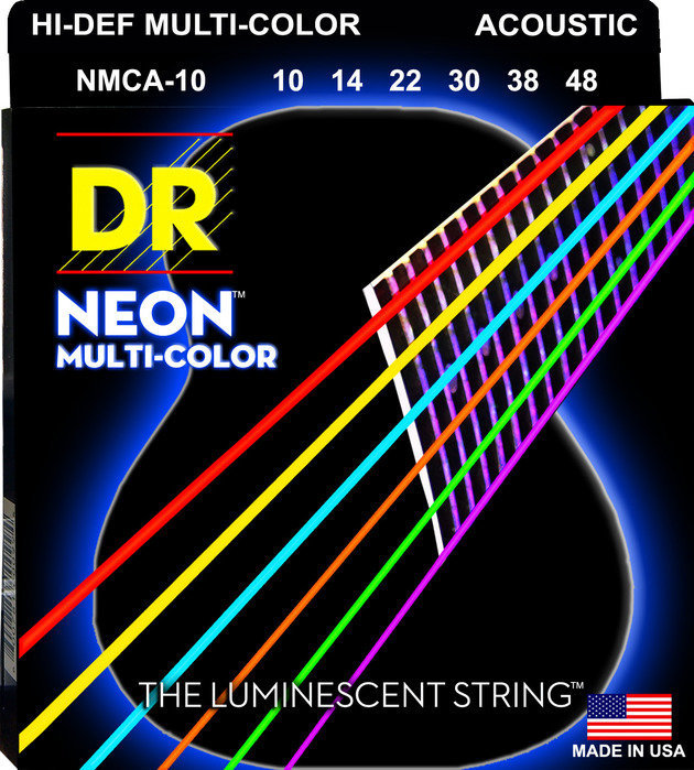 View larger image of DR Strings NMCA-10 Multi-Color Acoustic Strings - Extra Lite, 10-48