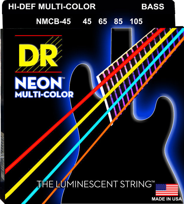 View larger image of DR Strings NMCB-45 Multi-Color Bass Strings - Medium, 45-105
