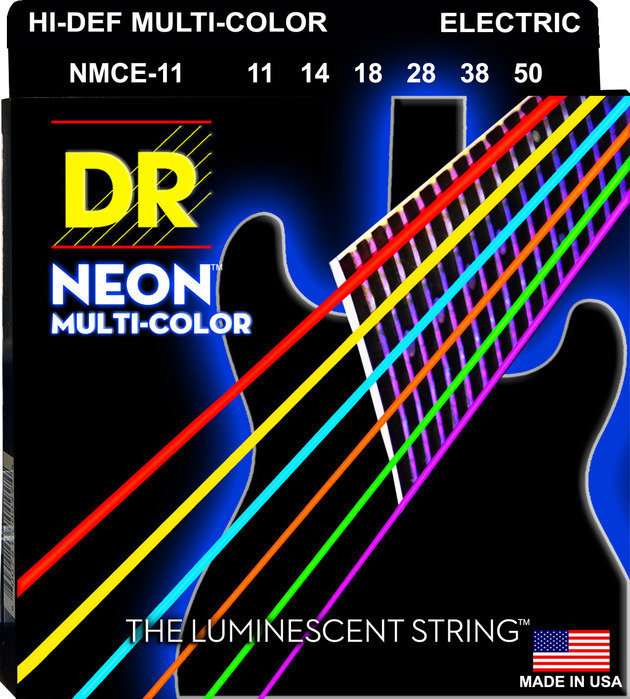 View larger image of DR Strings NMCE-11 Multi Color Electric Strings - Heavy, 11-50
