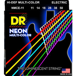 DR Strings NMCE-11 Multi Color Electric Strings - Heavy, 11-50