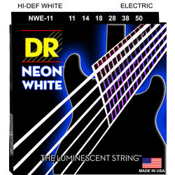 DR Strings NWE-11 Neon White Electric Strings - Heavy, 11-50