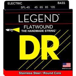 DR Strings SFL-45 Legend Flatwound Short Scale Bass Strings - 45-105