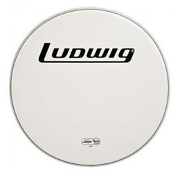 Drum Head with Logo - 22, Smooth White