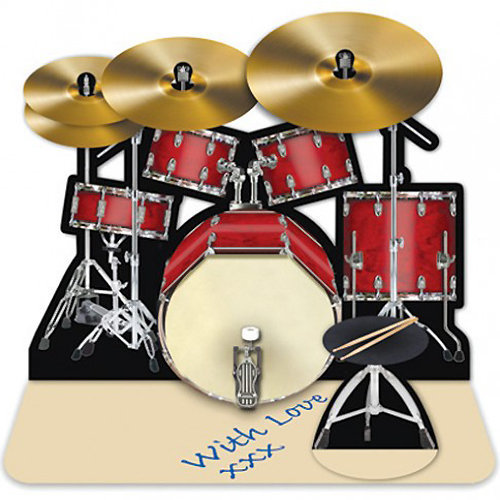 View larger image of Drum Kit 3D Greeting Card