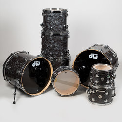 DW Collector's Series 8-Piece Shell Pack - Hardware, Black Diamond