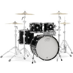 DW Design Series 4-Piece Shell Pack - 22/16FT/12/10, Piano Black