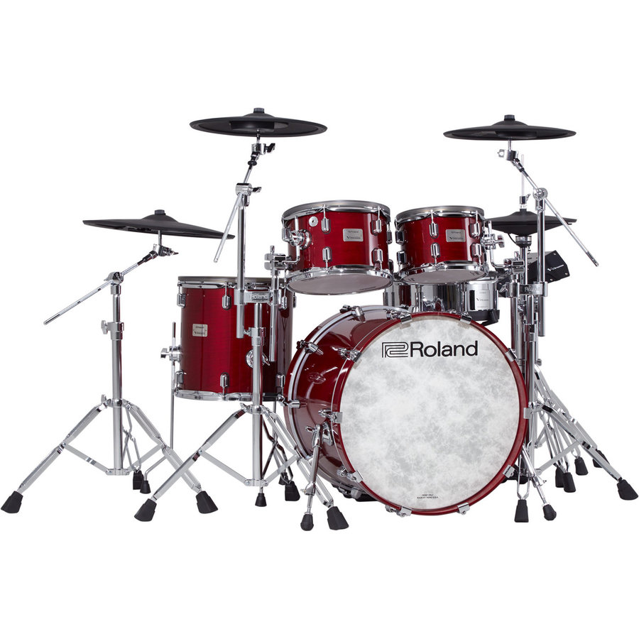 View larger image of Roland V-Drums Acoustic Design Electronic Drum Kit - Hardware, Gloss Cherry