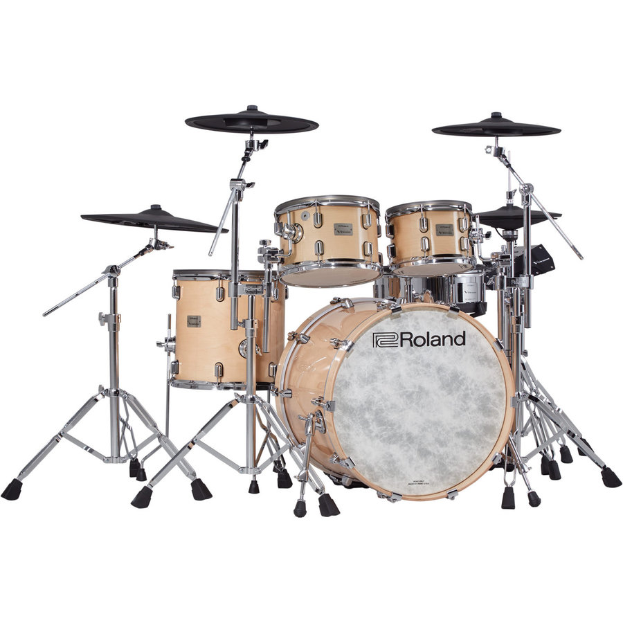 View larger image of Roland V-Drums Acoustic Design Electronic Drum Kit - Hardware, Gloss Natural