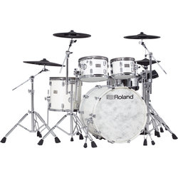 Roland V-Drums Acoustic Design Electronic Drum Kit - Hardware, Pearl White