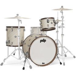 PDP Concept Classic 3-Piece Shell Pack - 22/16FT/12, Limited Edition Twisted Ivory