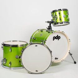 PDP New Yorker 4-Piece Shell Pack - 16/14SD/13FT/10, Electric Green Sparkle