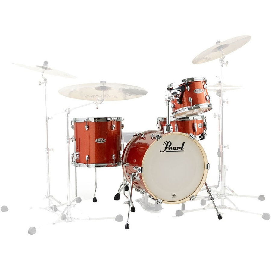 View larger image of Pearl Midtown Series 4-Piece Shell Pack - 16/13SD/13FT/10, Orange Crush