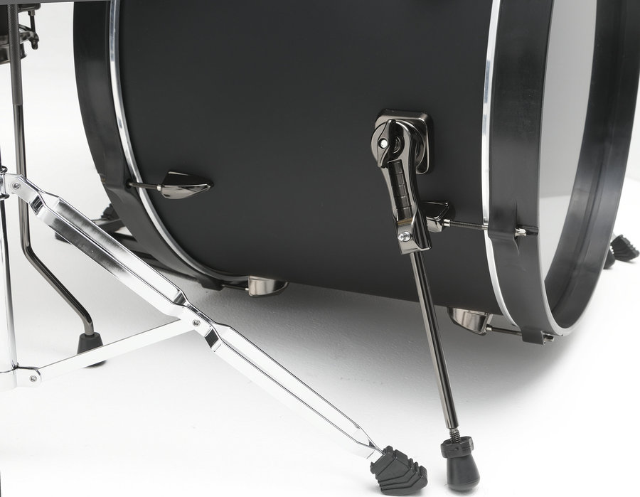 View larger image of Tama Imperialstar 6-Piece Complete Drum Set - 22/14SD/14FT/16FT/10/12, Hardware, Cymbals, Throne, Blacked Out Black