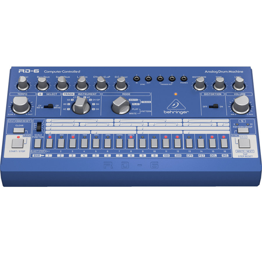 View larger image of Behringer RD-6 Analogue Drum Machine - Blue