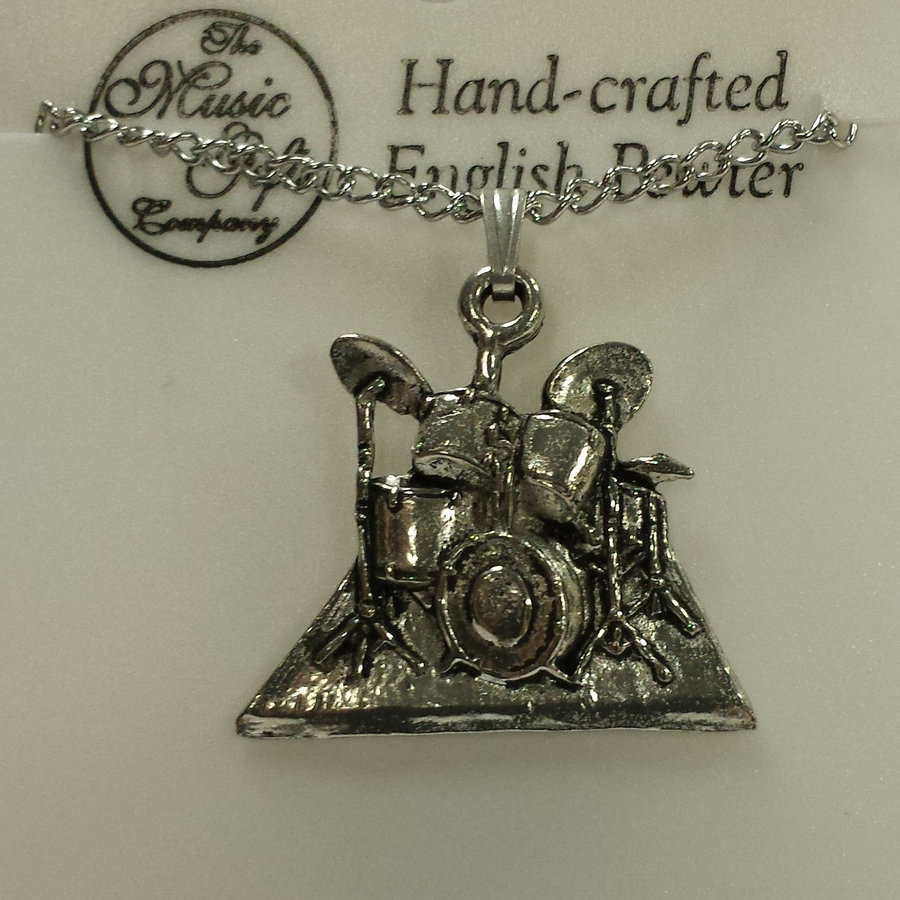 View larger image of Drum Necklace - Pewter